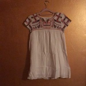 Zara Girls Casual Embroidered Dress, Size 11/12